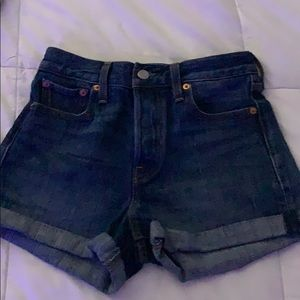 Levi dark wash shorts
